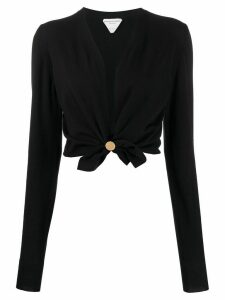 Bottega Veneta twisted cropped cardigan - Black