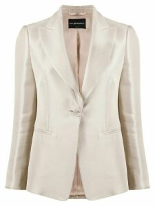 Emporio Armani single-breasted fitted blazer - NEUTRALS
