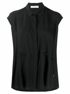 Fabiana Filippi cap sleeve blouse - Black