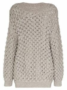 Vika Gazinskaya oversized knitted jumper - Grey