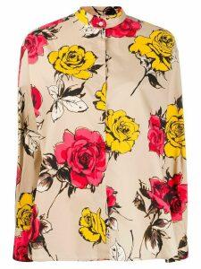 MSGM floral print shirt - NEUTRALS