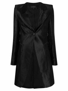 Ann Demeulemeester longline satin blazer - Black
