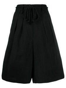 Forte Forte wide-leg shorts - Black