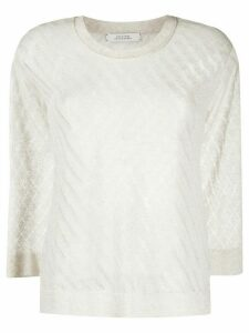 Dorothee Schumacher diagonal stitch jumper - NEUTRALS