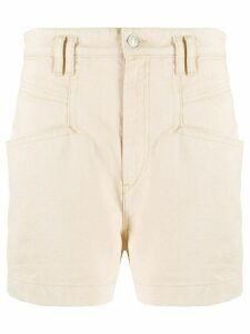 Isabel Marant high waist denim shorts - NEUTRALS