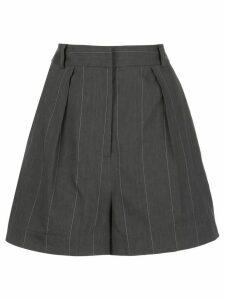 Tibi Isselin stripe pleated shorts - Grey