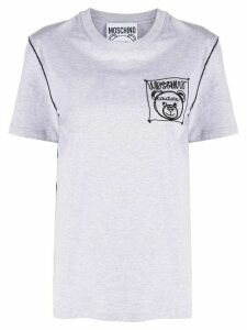 Moschino embroidered logo T-shirt - Grey