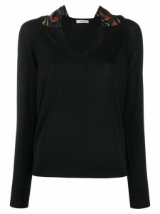 Dorothee Schumacher contrast collar jumper - Black