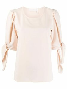 See by Chloé tie-sleeve blouse - PINK