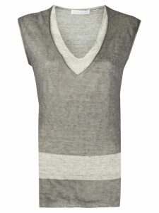 Fabiana Filippi layered tank top - Grey