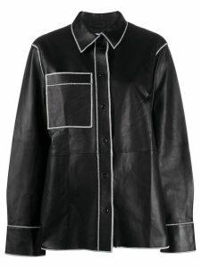 STAND STUDIO stitch-embellished shirt - Black
