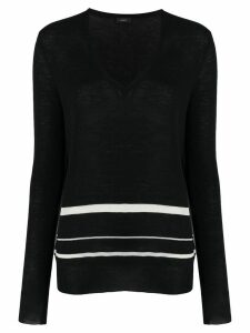 Joseph striped slim-fit jumper - Black