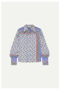 Chloé - Printed Silk-twill Shirt - Blue