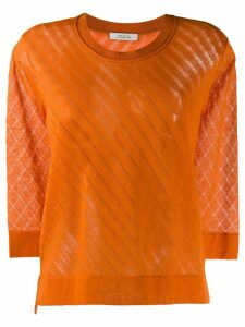 Dorothee Schumacher 7/8 sleeve round neck pullover - ORANGE