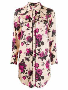 Laneus floral print shirt - NEUTRALS