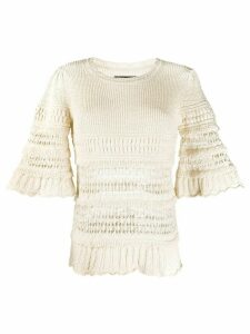 Isabel Marant Friza crochet-knit jumper - NEUTRALS