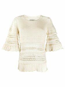 Isabel Marant Friza crochet-knit jumper - NEUTRALS