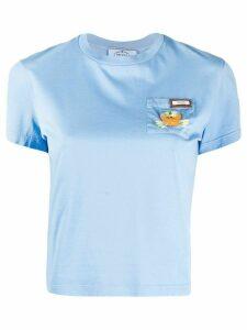 Prada crab cotton T-shirt - Blue