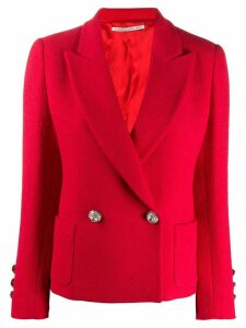 Alessandra Rich double breasted suit jacket - Red