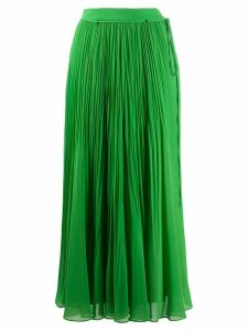 Irina Schrotter pleated maxi skirt - Green