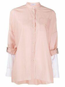 Brunello Cucinelli mandarin collar shirt - PINK