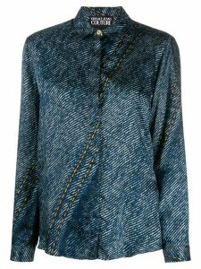 Versace Jeans Couture denim print shirt - Blue