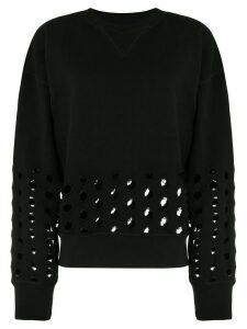 Maison Margiela cut-out detail sweatshirt - Black