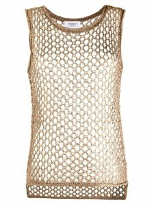 Snobby Sheep sheer sleeveless top - Brown