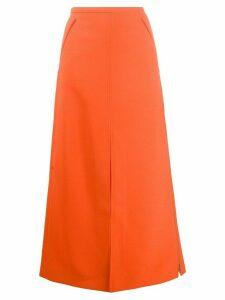 Courrèges A-line maxi skirt - ORANGE