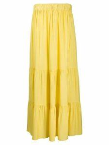 Marlies Dekkers gathered tier maxi skirt - Yellow