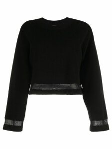 Barrie terrycloth cropped pullover - Black