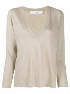 IRO linen long sleeve top - NEUTRALS