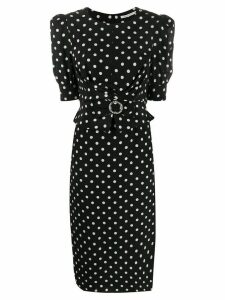 Alessandra Rich spotted fitted shirt - Black