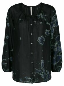 Raquel Allegra silk abstract print blouse - Black