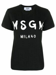 MSGM crew-neck logo T-shirt - Black