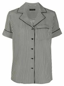 Rag & Bone striped-print silk shirt - Black