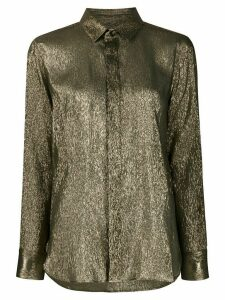Saint Laurent lamé silk shimmering shirt - GOLD
