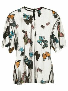 Staud embroidered butterfly T-shirt - Black