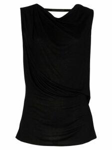 Helmut Lang open back sleeveless top - Black