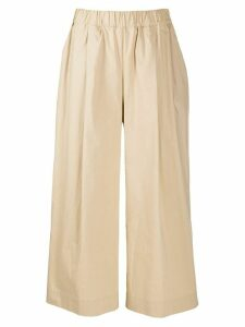 P.A.R.O.S.H. low-waist wide cropped trousers - NEUTRALS