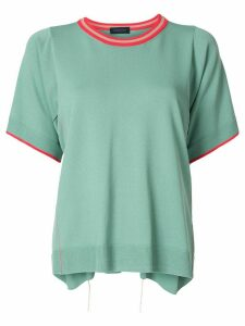 Eudon Choi relaxed knitted top - Green