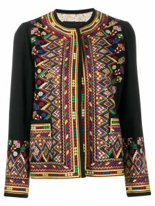 Etro embroidered open front cardigan - Black