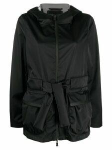 Herno belted hooded jacket - Black
