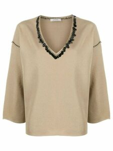 Dorothee Schumacher sequin-embellished jumper - GOLD