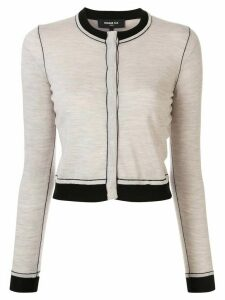 Paule Ka contrast piping cardigan - NEUTRALS