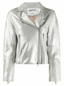 S.W.O.R.D 6.6.44 metalized biker jacket - SILVER