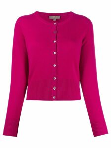 N.Peal buttoned cashmere cardigan - PINK