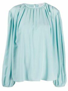 Lemaire Oberteil crepe de chine blouse - Blue