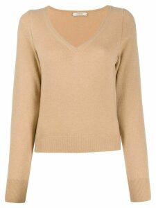 Dorothee Schumacher v-neck fine knit jumper - NEUTRALS
