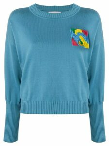Moschino Teddy Bear cropped crewneck jumper - Blue